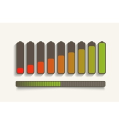 Battery charge status vector image
