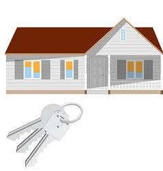 Modern house and keys vector image