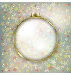 Abstract stars background with christmas vector