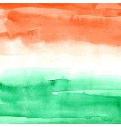 Indian flag watercolor texture vector