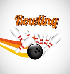 Bowling game design vector