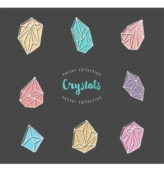 Crystals - hand drawn elements vector