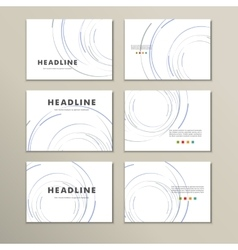 Abstract circle set vector