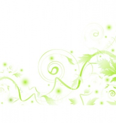 abstract green vector image vector image