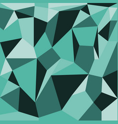 abstract polygons green background vector image