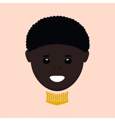 African american boy isolated vector