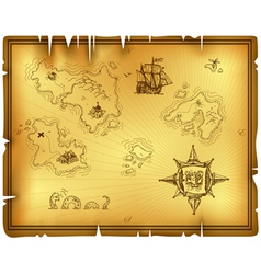 ancient map vector image