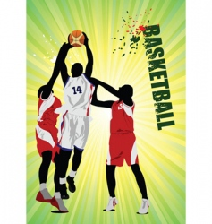 basketball poster vector image