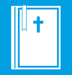 bible icon white vector image