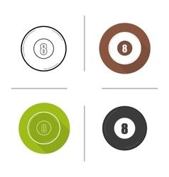 Billiard eight ball icons vector