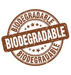 Biodegradable brown grunge stamp vector