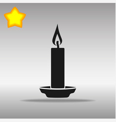 Black candle icon button logo symbol concept vector