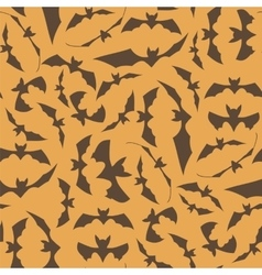 Brown cartoon bat seamless pattern vector