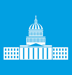 Capitol icon white vector