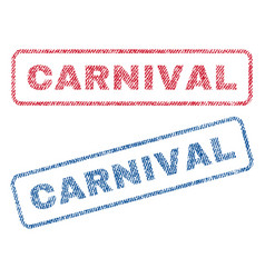 Carnival textile stamps vector