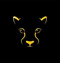 Cheetah head vector