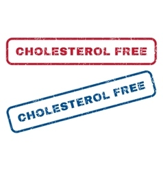 Cholesterol free rubber stamps vector