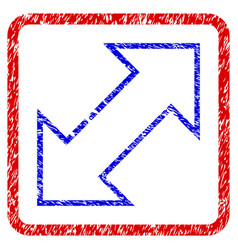 Exchange diagonal grunge framed icon vector