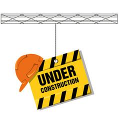 Flat under construction concept with concrete vector