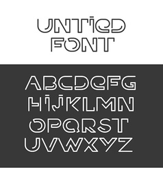 Font alphabet set vector