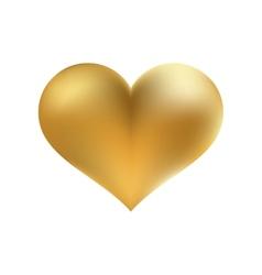 Golden shiny heart shape isolated EPS8 vector image vector image
