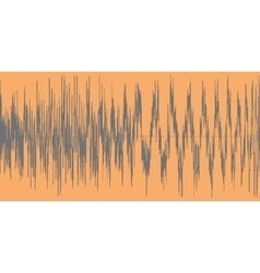 Gray sound wave on a orange background vector image