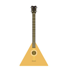 Instrument balalaika guitar folk musical vector