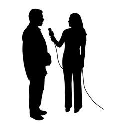 interview vector image vector image