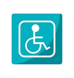 Isolated wheelchair inside frame design vector