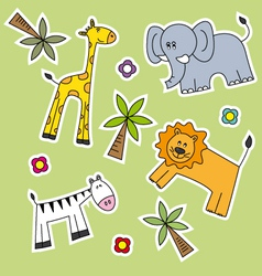 kids animal wallpaper vector image vector image
