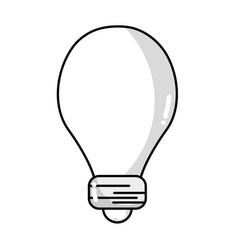 Line light energy bulb to illumination vector