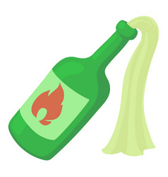 molotov cocktail icon cartoon style vector image