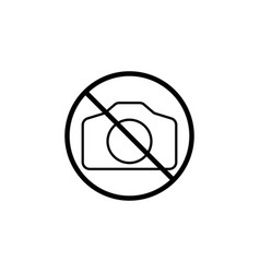 No camera line icon prohibition sign forbidden vector