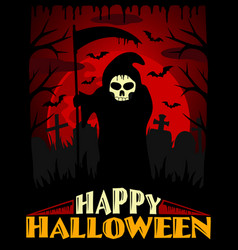 Scary halloween background red vector