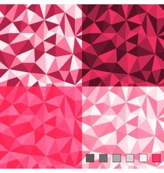 Seamless abstract polygonal background patterns vector image vector image