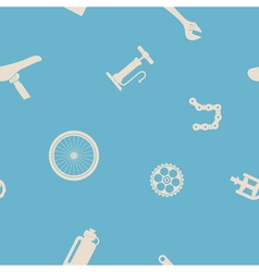 Seamless background with bicycle icons vector image vector image