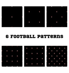 Set seamless pattern Football ball vector image vector image