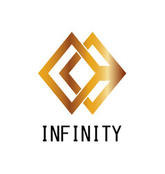 square infinity logo vector image