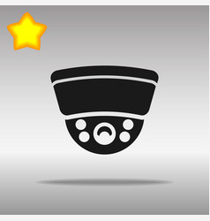 Surveillance camera black icon button logo symbol vector