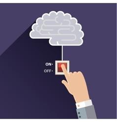 Turn on idea brain vector