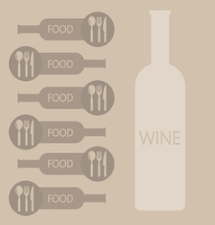 Wine and food restaurant info graphic vector image