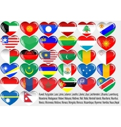 World flag vector image vector image