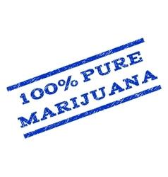 100 percent pure marijuana watermark stamp vector