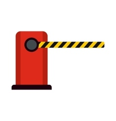 Parking barrier icon flat style vector