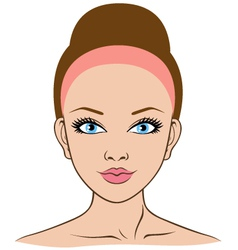 Woman face closeup vector