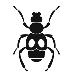 Beetle insect icon simple style vector