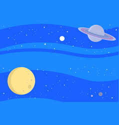Space with planets background vector