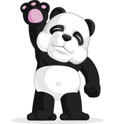 Panda waving his hand vector