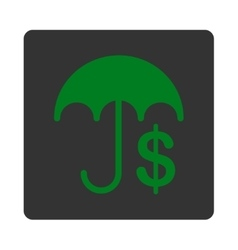 Financial care icon from commerce buttons vector