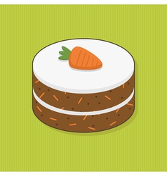 Decorated carrot vector